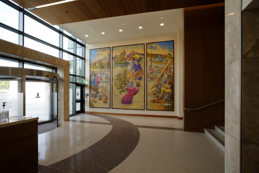 Linn County Administrative Office Interior Entry